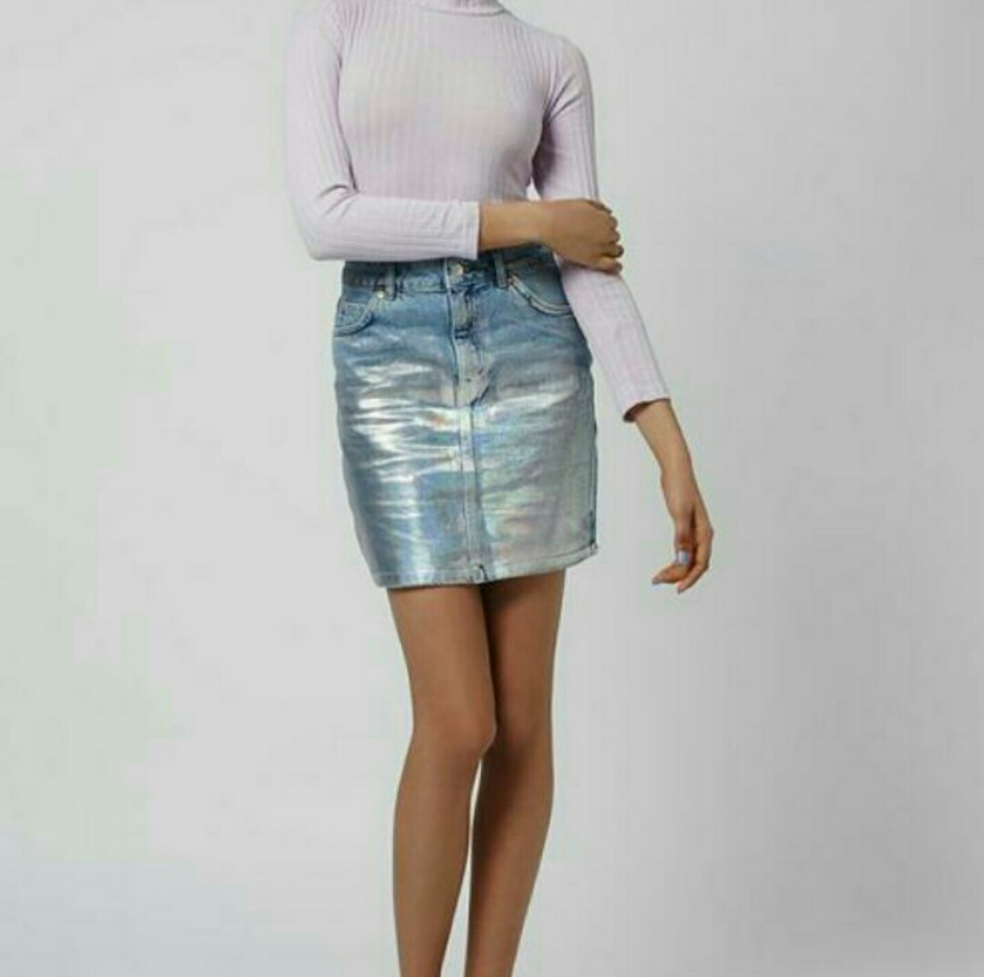 ecf94074ed Topshop Button Up Denim Skirt