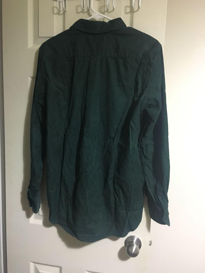Uniqlo Green Corduroy button down shirt Size S