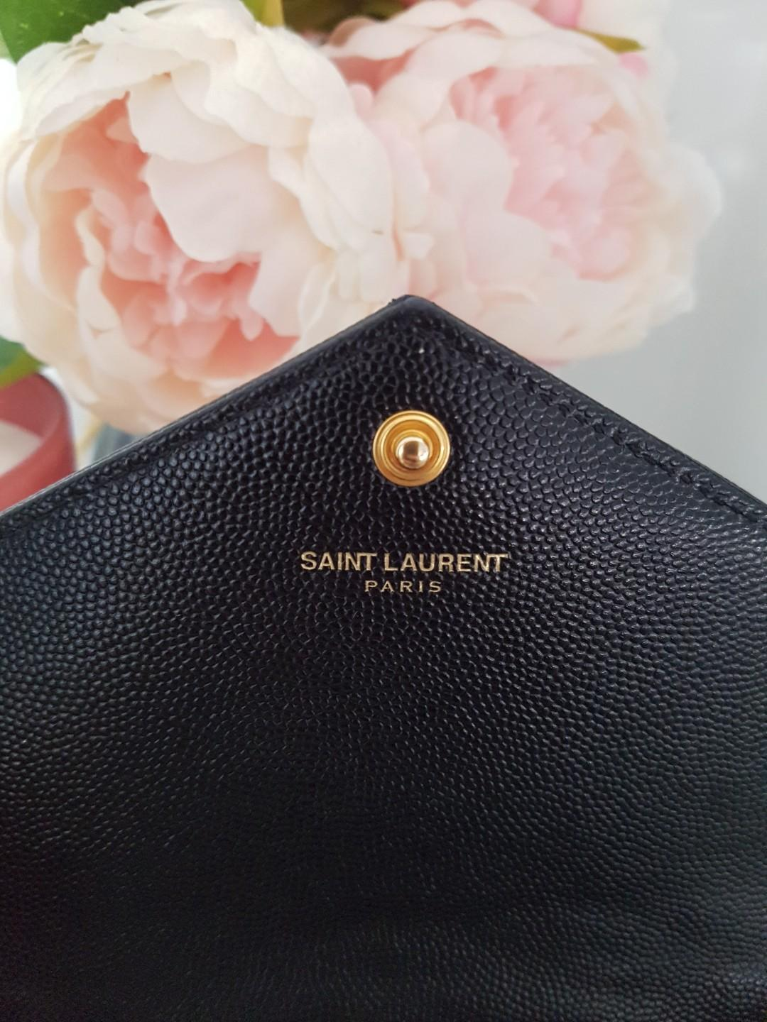 Ysl saint laurent envelope wallet on chain