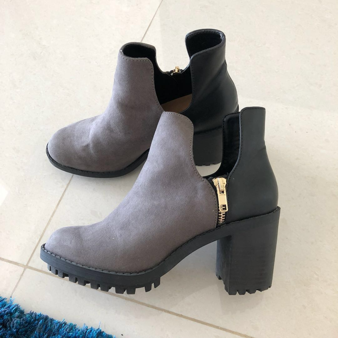 2c15ed9872 Zara Boots heel, Women's Fashion, Shoes, Boots on Carousell