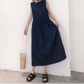 ✅ Korean Style Sleeveless Dress