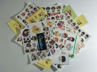 [WTS] BTS Fanart/Fansite Stickers Grabbag