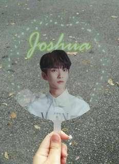 Seventeen transparent hand fan+ transparent card