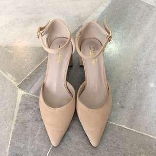 🌙Nude Chucky heels (3cm) #SUBANGJAYASWAP