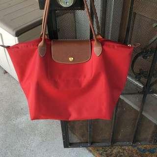 Red Longchamp Bag (Large)