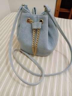 Periwinkle blue sling bag