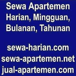 jual sewa apartemen harian mingguan bulanan tahunan, juga tersedia rumah kost villa ruang kantor disewakan