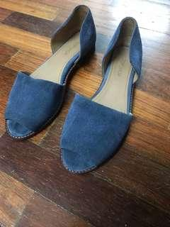Topshop Dusty Blue Open Toe Flat Moccasin #seppayday