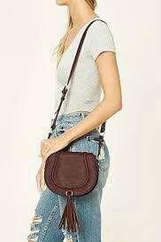 Forever 21 Forever21 F21 Classic Brown Sling Bag #SepPayDay