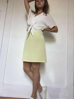 Vintage Yellow High Waisted Skirt
