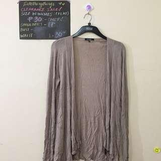 M/L Nude Stretch Fabric Open Cardigan - pls read description