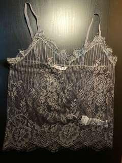 Supre Gothic Grey Lace Cami