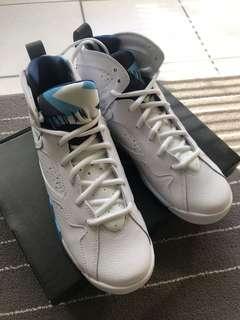 [100% Authentic] Air Jordan 7 Retro BG | white/french blue university | US7