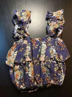 Floral paperdoll top