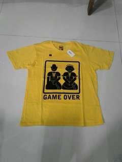 Kaos DAMN I LOVE INDONESIA GAME OVER YELLOW