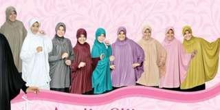 Jilbab Armila Silk with Sleeves (Good Coverage)