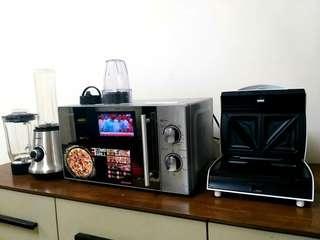 microwave oven blender pembakar roti