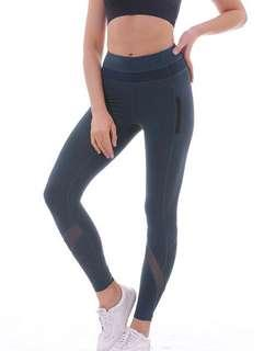 New yoga mesh pants sizes are small medium and large