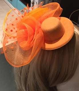 Orange hair fascinator