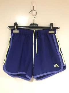 Adidas 愛迪達 藍 運動短褲 慢跑