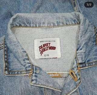 Vintage unisex Planet Hollywood denim jacket