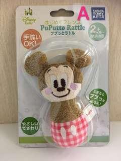 🇯🇵日本直送,Disney Baby 米奇、唐老鴨、小熊維尼、三眼仔咇咇棒,米奇圈圈搖鈴(現貨發售,保證正品)