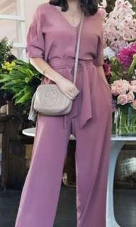 Ailanto size 38 deep blush pink jumpsuit
