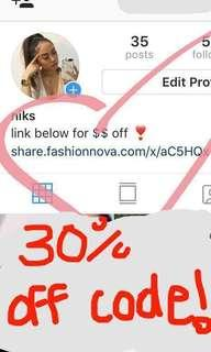 Fashion Nova discount code