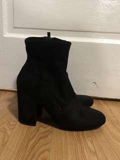 Steve Madden Women's Irven Dress Sock Boots in Black Size 10