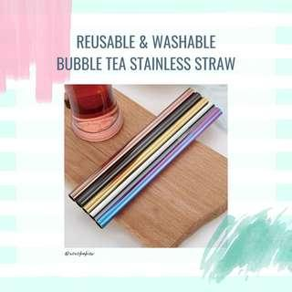 Bubble Tea Stainless Straw