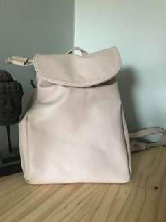 Forever 21 Light Pink Pleather Backpack