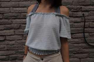 Off the shoulder C.O.L.Z.A Shirt
