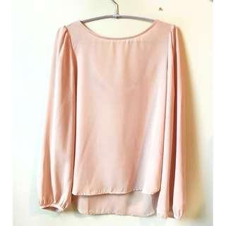Tobi Blush Pink Blouse Top, cute cut out back, size small, size 4 or 6