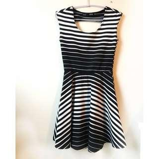 Black and White Striped Dress, size extra small by Rebel Sugar brand - unworn, never worn