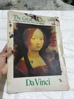 Vintage Da vinci book