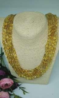 Genuine Amber Yellow Gold Colour fashion necklace