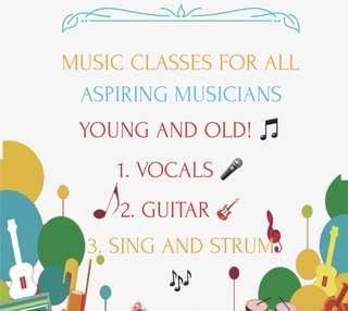 Music classes for all!🎵