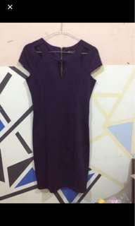 Preloved - Dress purple bodycon #kemeja50