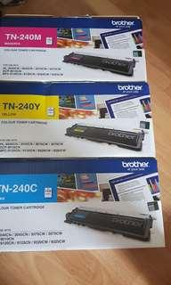 BN Brother TN240 printer colour Toner  Authentic Yellow,Magenta,Cyan
