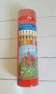 Brand new Faber Castell Tin 36 color pencils