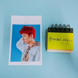 EXO CHANYEOL OFFICIAL POSTCARD (LUCKY ONE)