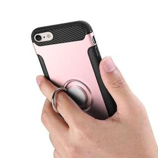 Casing with ring 360 derajat untuk Iphone 7