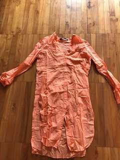 Zara orange top S