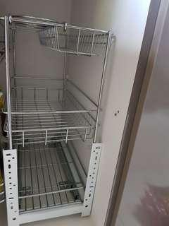 Stainless Steel Pull- Out Condiment Rack/Storage