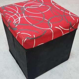 Foldable storage chair / stool / box container / sofa