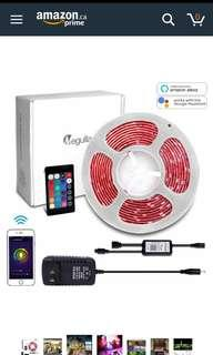 16ft LED strip (syncs to music via app control)