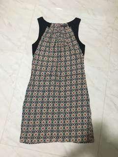 Warehouse tile print dress