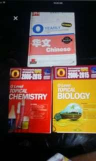 O level topical for chinese, chemistry and biology