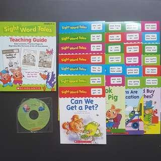Scholastics Sight Word Tales set of 25 books for K1-2 kindergarten Children's Day Sale Montessori book