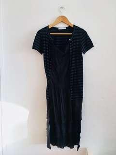 sacai luck Black Dress Size 2